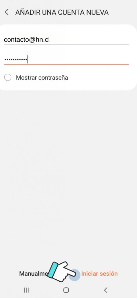 configurar correo android: añadir cuenta nueva